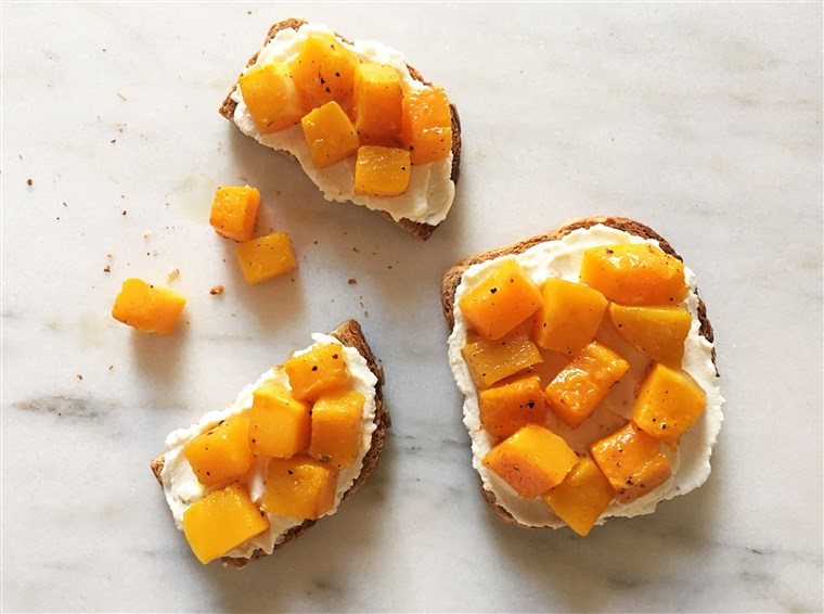 Butternut Squash Toast with Ricotta