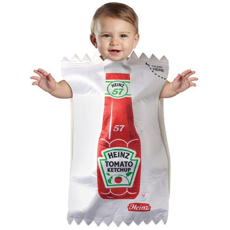 Säugling Ketchup Packet Costume
