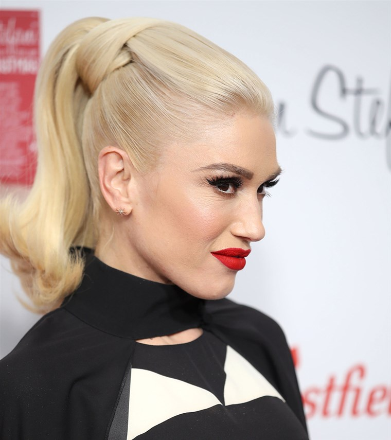 Gwen Stefani ponytail photo
