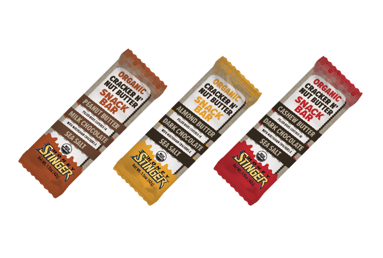 Пчелен мед Stinger Organic Almond Butter and Dark Chocolate Cracker N' Nut Butter Snack Bar