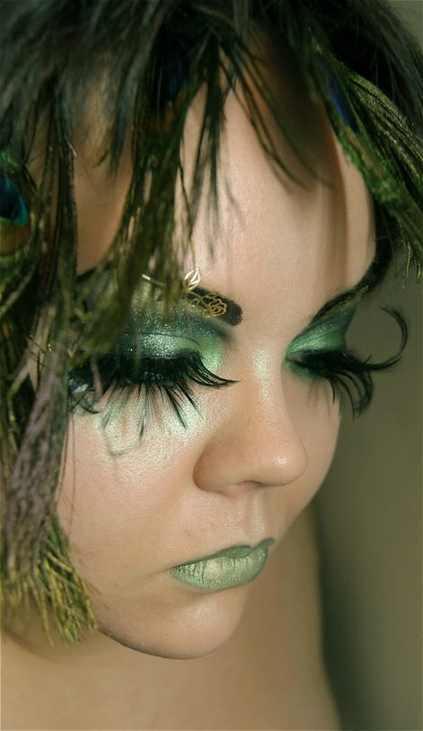 Grün fairy makeup