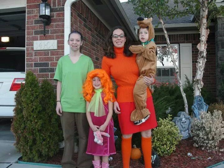 RUH-ROH: Melissa Borchardt's family suited up at the Scooby Doo gang, but she says her husband refused to be Fred. No treats for you!