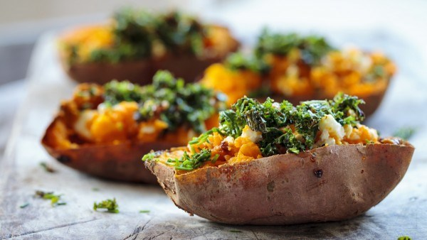 Ruth Ward's Stuffed Sweet Potato and Spinach
