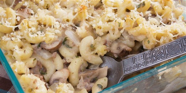 Sporák Mac and Cheese with Mushrooms