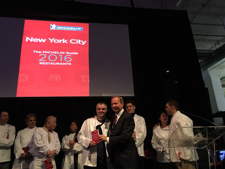 2016 Michelin guide for New York