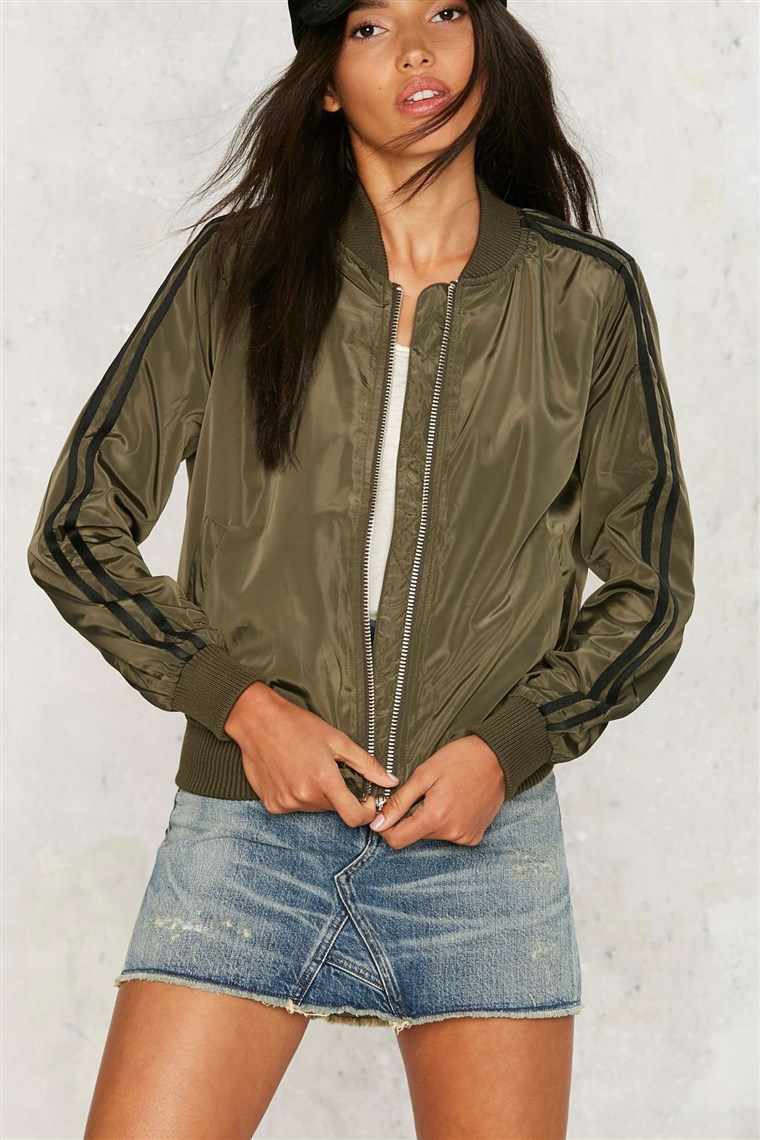Nasty Gal Call It a Flight Bomber Jacket