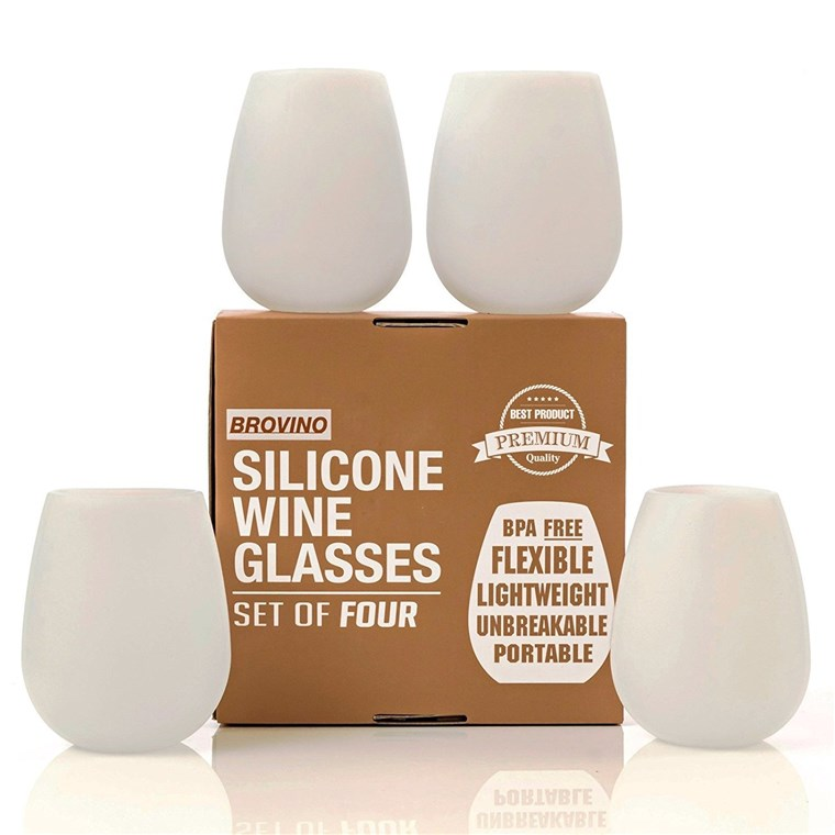 Brovino Silicone Wine Glasses