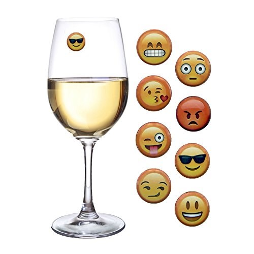 просто Charmed Emoji Wine Charms