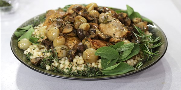 подправен Chicken with Lebanese Couscous