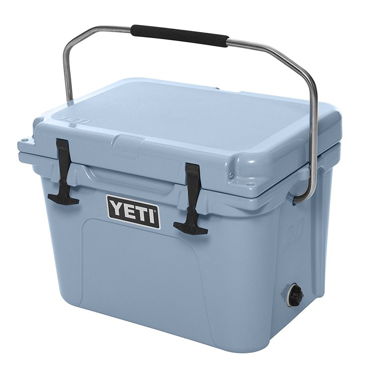 Yeti cooler in blue