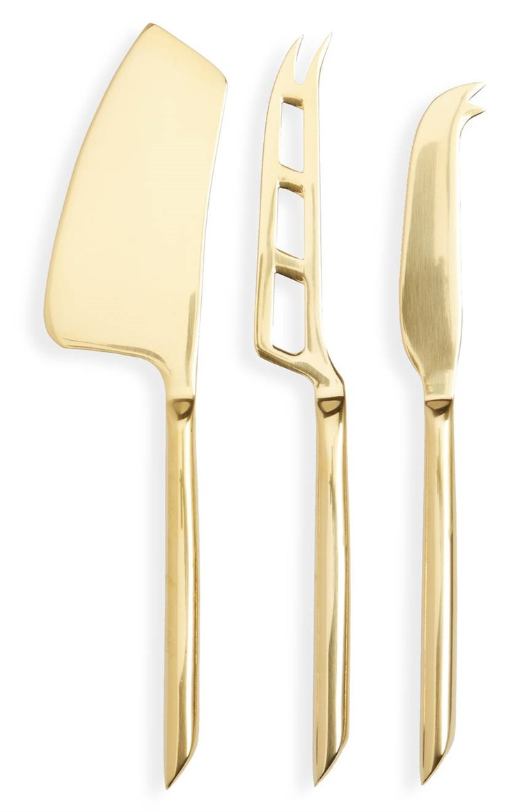 Wahr Fabrications set of 3 gold cheese knives