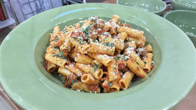 Rigatoni Marinara with Sweet Sausage