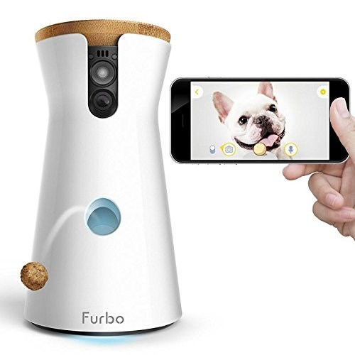 فوربو Dog Camera: Treat Tossing, Full HD Wifi Cam and 2-Way Audio, Designed for Dogs, Works with Amazon Alexa