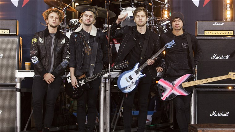 5 Seconds of Summer performs on the TODAY Show plaza.