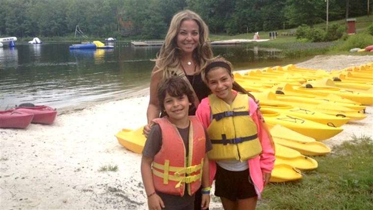 Hollee Actman Becker with her two children at summer camp. She and other moms share their hard-won wisdom for happy campers.