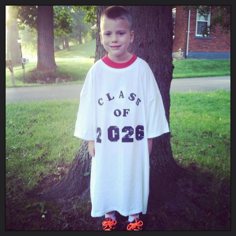 My can't wait to see how this tee shirt fits when this little guy is in high school!