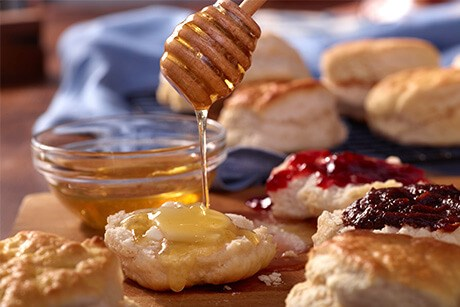 Cracker Barrel biscuits and jam