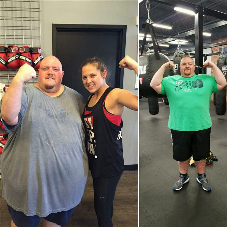 V almost 600 pounds, Mike Powers' health was failing. In only 15 months he has shed 250 pounds.