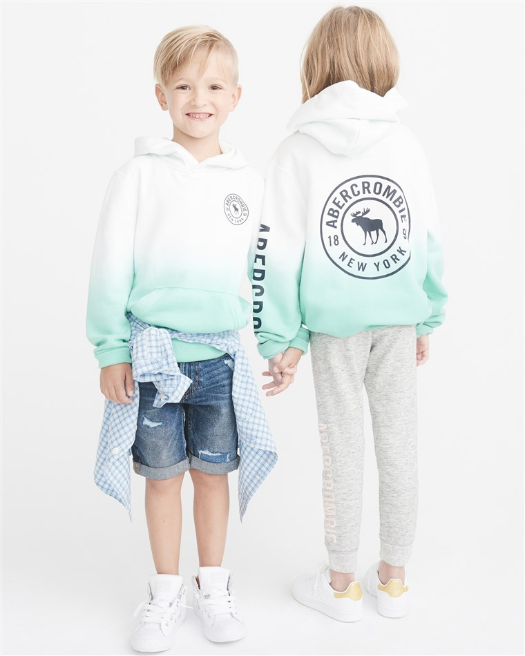 Das clothing line is on sale at Abercrombie Kids stores and online this month.