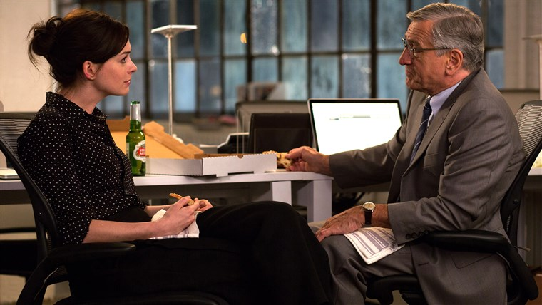 Anne Hathaway and Robert De Niro in 'The Intern'