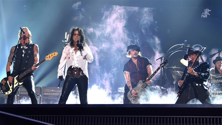 达夫 McKagan, singer Alice Cooper, actor/musician Johnny Depp, musician Joe Perry
