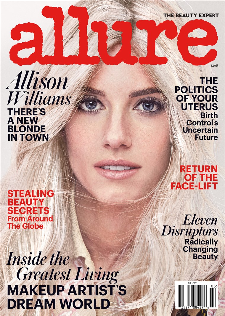 Алисън Williams goes blonde for Allure!