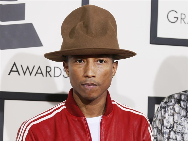 Pharrell Williams and his hat.