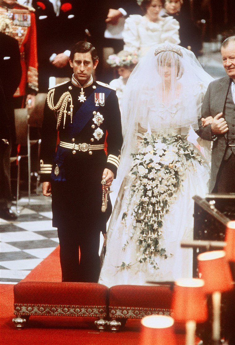 Prinzessin Diana and Prince Charles on their wedding day.