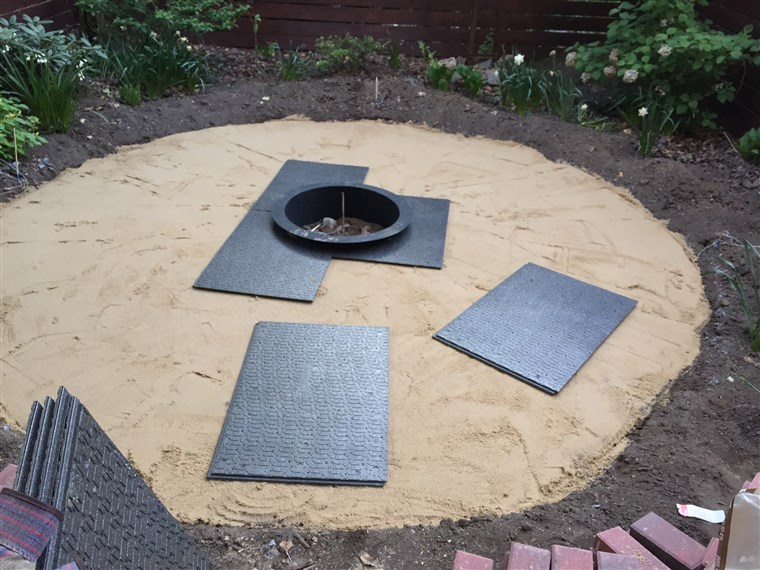 DIY backyard patio process