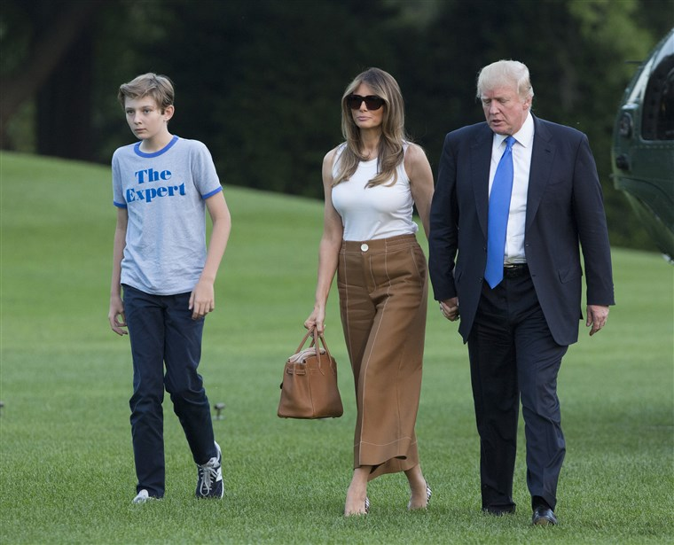 Zuerst Family Arrives At The White House