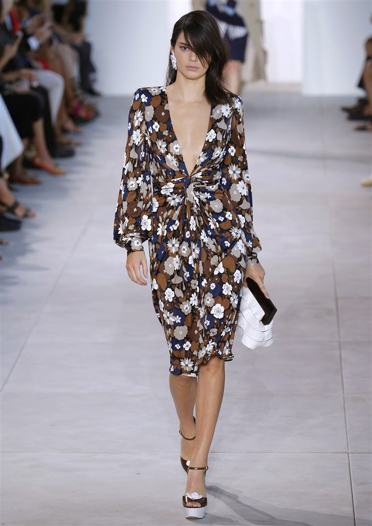Kendall Jenner walks the runway at the Michael Kors Spring 2017 Runway Show