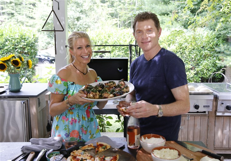 Jill Martin and Bobby Flay
