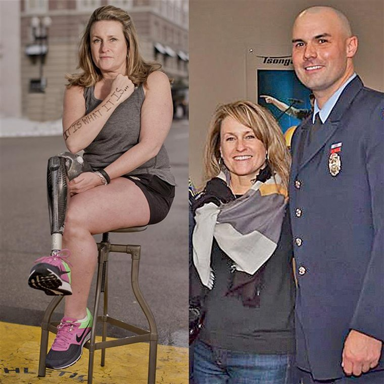 بوسطن Marathon survivor named Roseann Sdoia, will marry Mike Materia, a firefighter who saved her on that day.