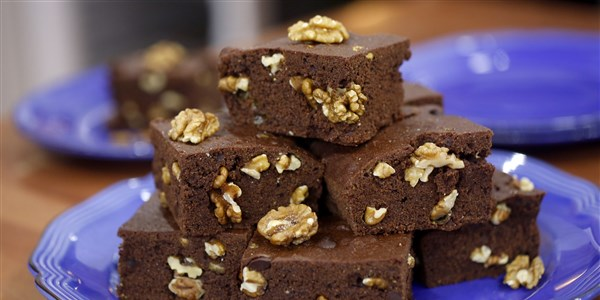 Doppelt Chocolate Walnut Brownies
