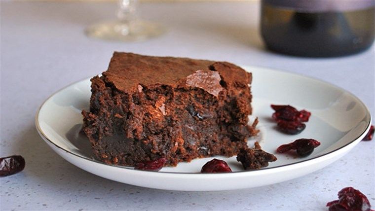 rot wine brownies