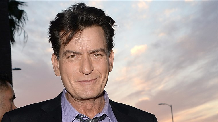 Charlie Sheen at the Premiere Of Dimension Films'