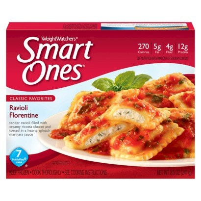 Gewicht Watchers Smart Ones Ravioli Florentine was a top pick for budget frozen diet meals, according to Cheapism.com