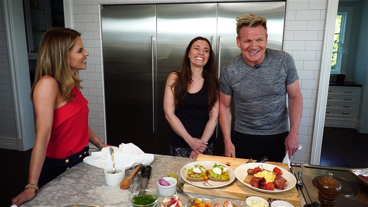 Gordon Ramsey and his wife Tana talk to Natalie Morales