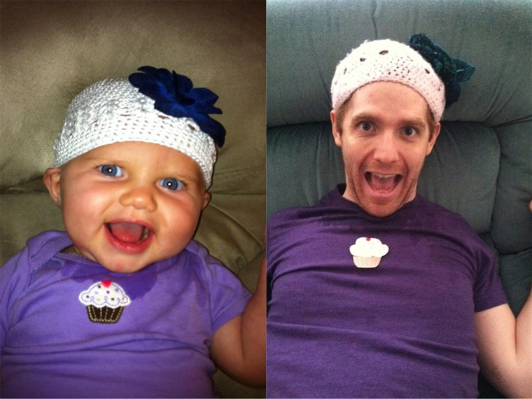 Molly Thomas photographs her roommate, actor Mick Bleyer, dressing up like a baby for their hilarious blog.
