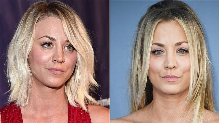 Kaley Cuoco hair 2016