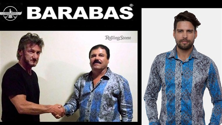EIN look at the brand's website today, featuring 'El Chapo.'