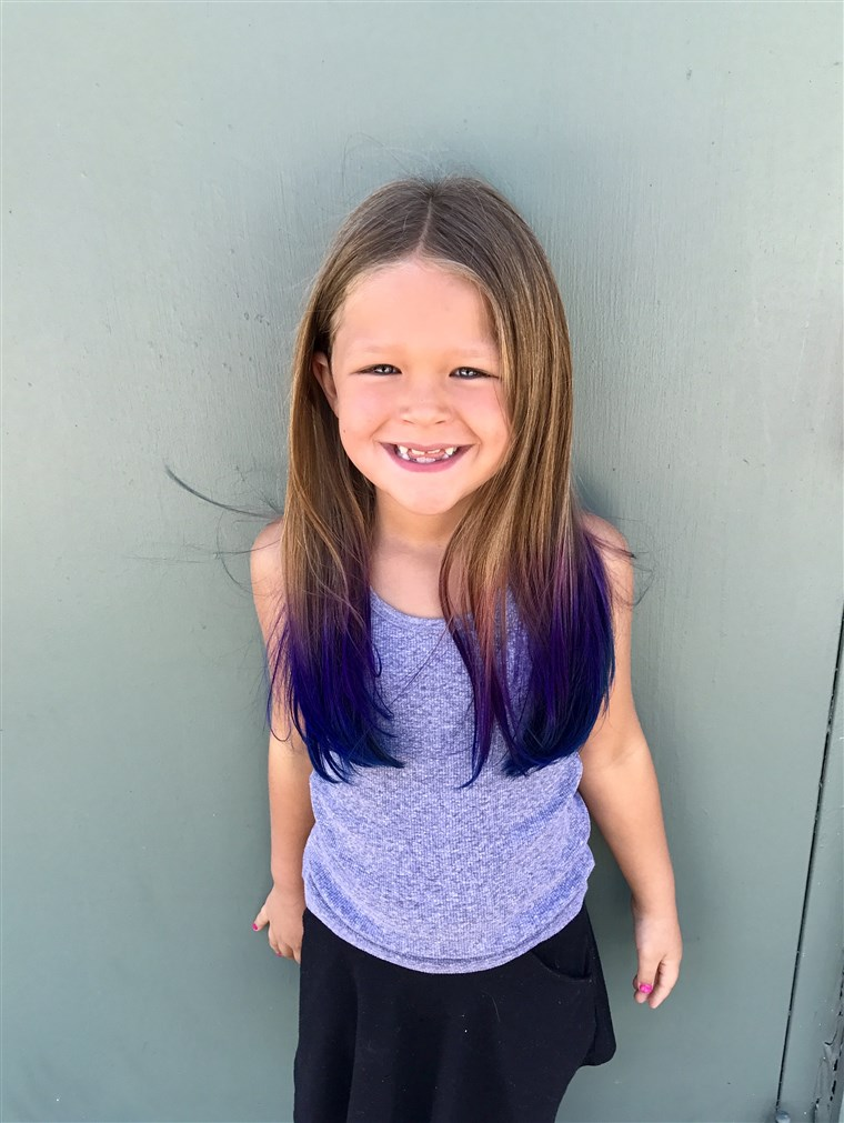 DNES Contributor Terri Peters allowed her daughter, Kennedy, 6, to have her hair colored at the start of summer vacation.