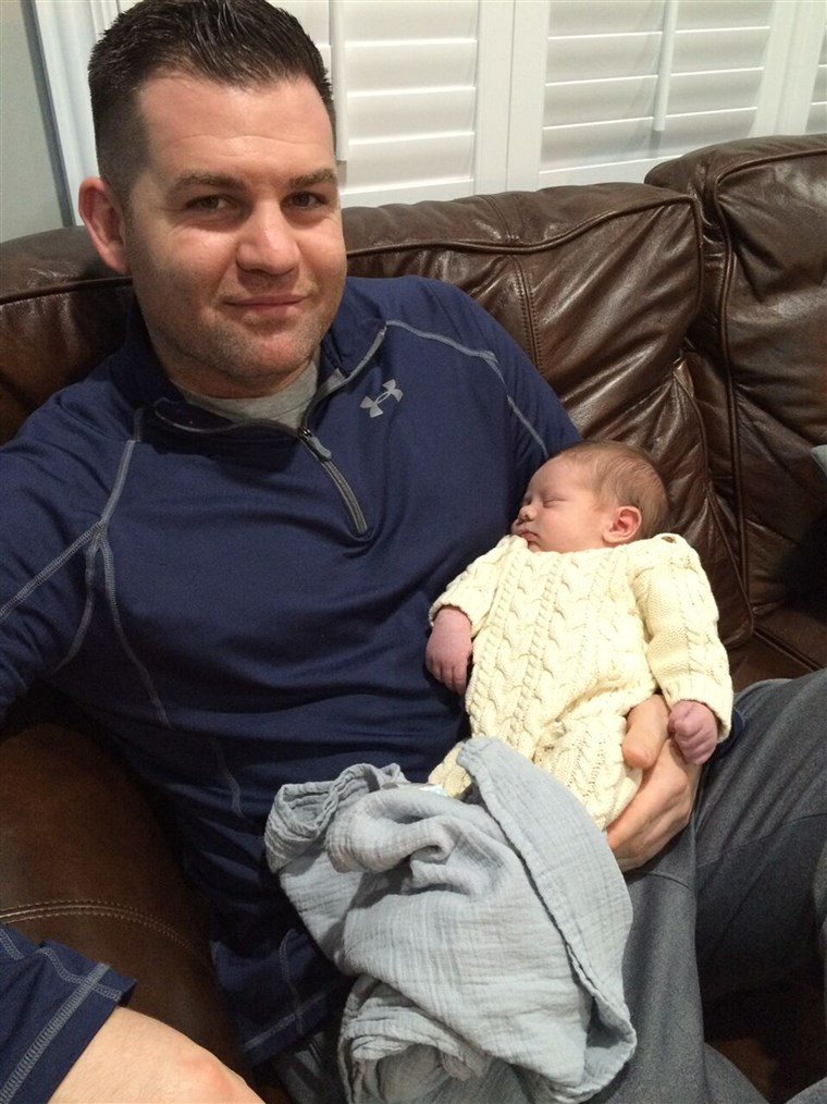 Dennis Cosgrove with baby Declan