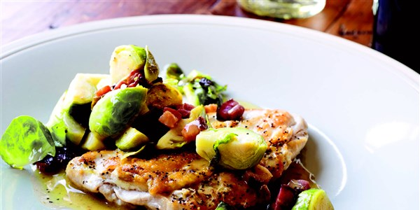 5 Minuten Chicken Breasts with Bacon & Brussels Sprouts