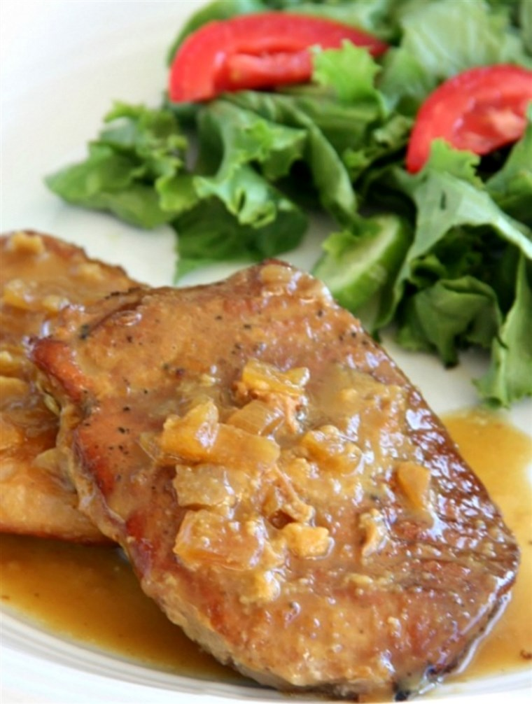 Slow-Herd maple Dijon pork chops