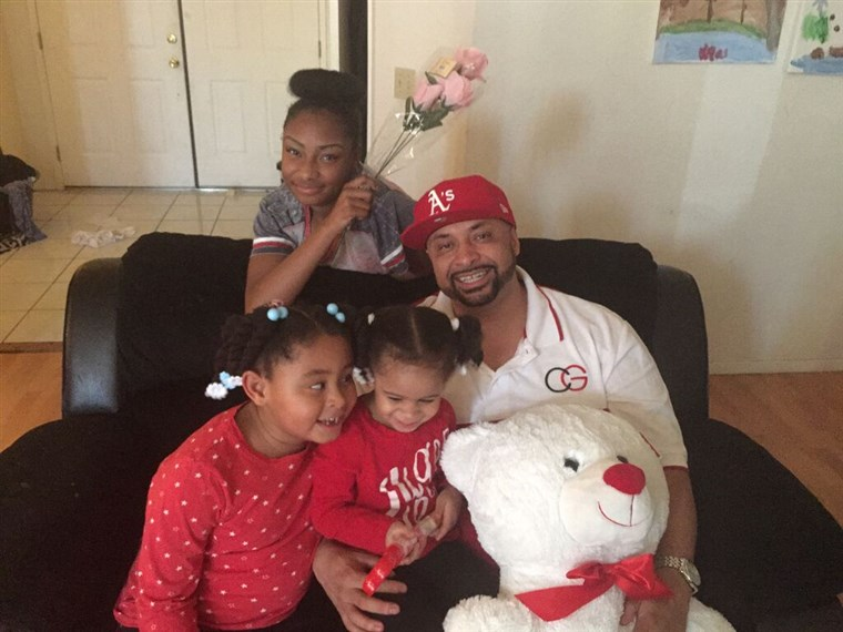 Khari Touré with daughters Ashé, 15, Nia, 6, and Maya, 2.