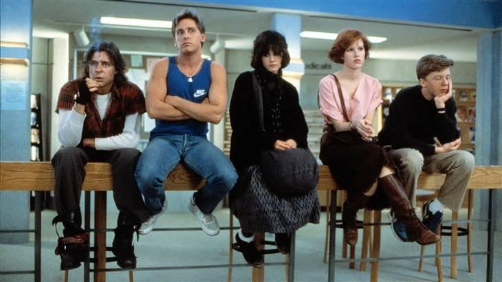 贾德 Nelson, Emilio Estevez, Ally Sheedy, Molly Ringwald and Anthony Michael Hall faced detention together in 1985's