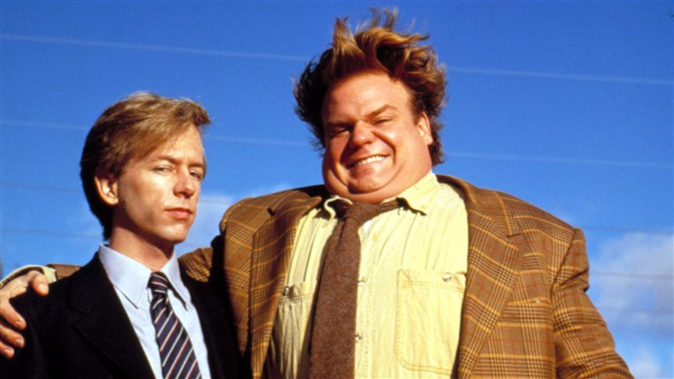 Крис Farley and David Spade in 'Tommy Boy'