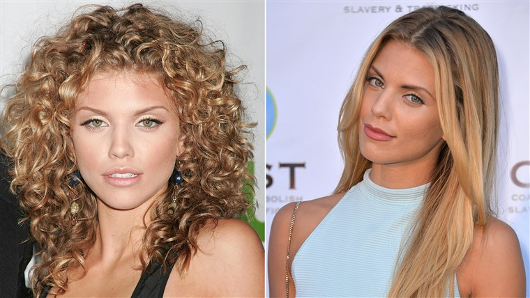 Sogar Annalynne McCord couldn't resist the pull of the straightener.