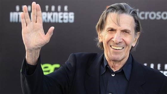 Leonard Nimoy arrives at a film premiere in Hollywood in May 2013. The